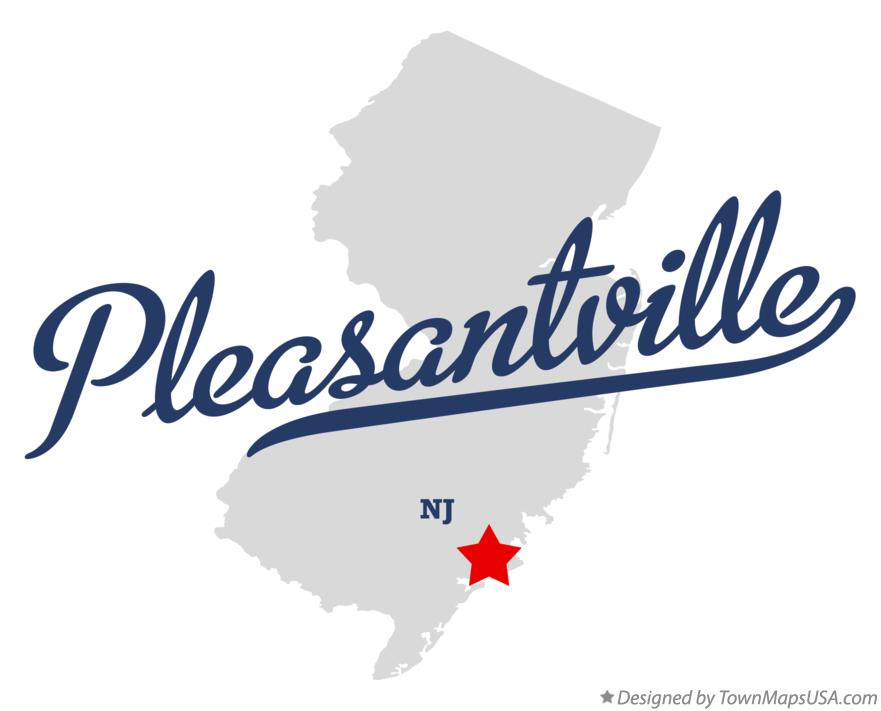 Map of Pleasantville New Jersey NJ