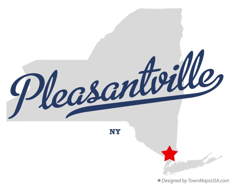 Map of Pleasantville New York NY