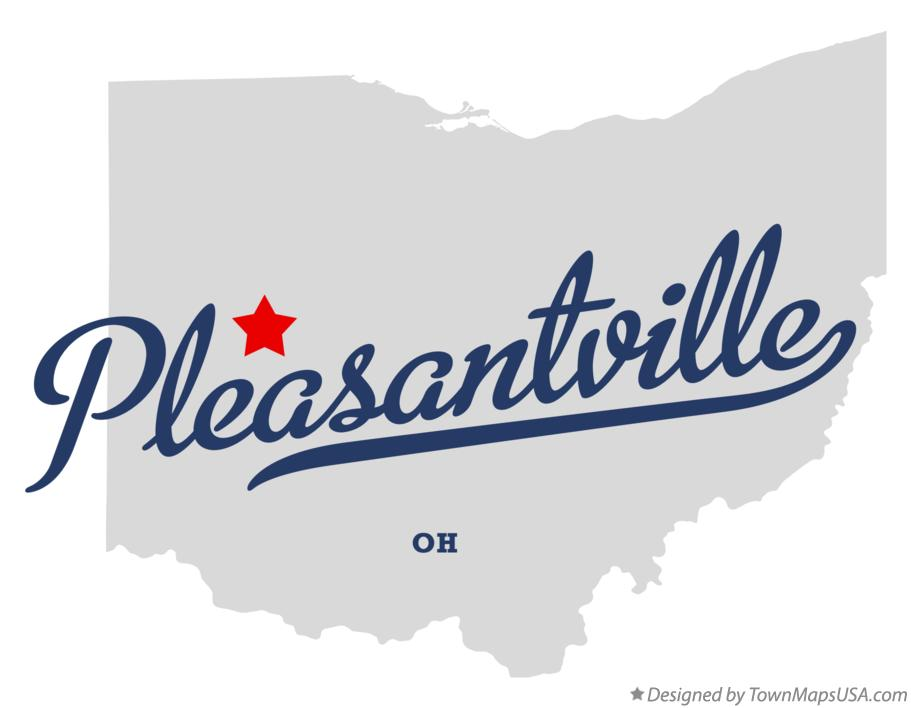 Map of Pleasantville Ohio OH