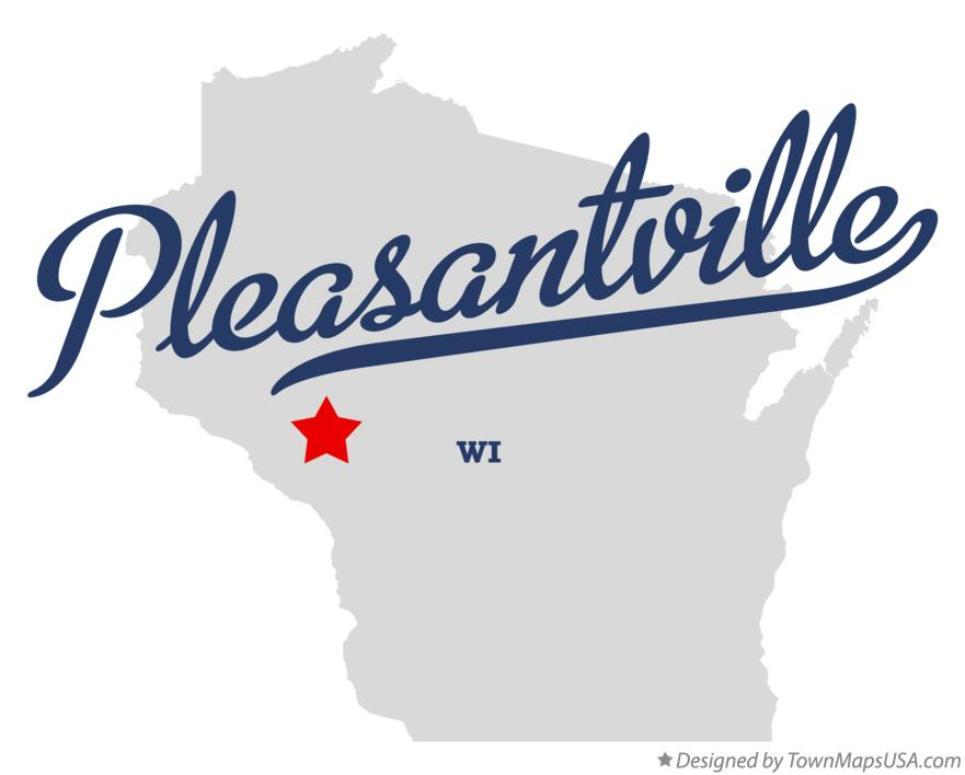 Map of Pleasantville Wisconsin WI