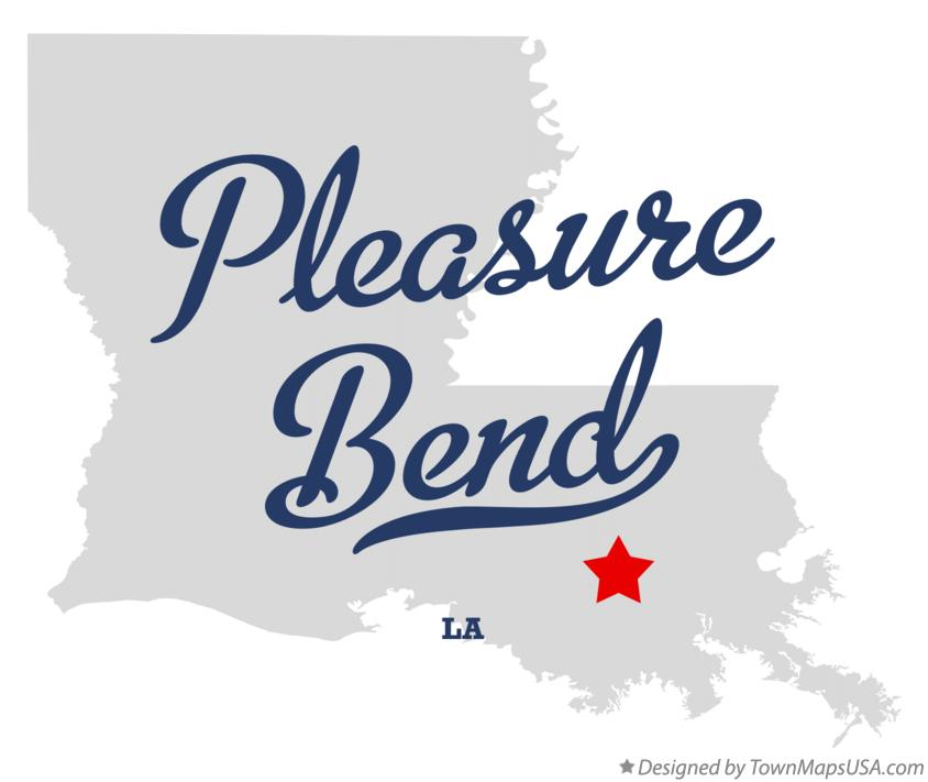 Map of Pleasure Bend Louisiana LA