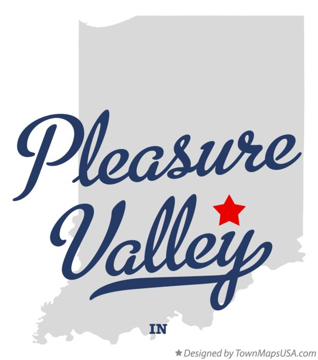 Map of Pleasure Valley Indiana IN