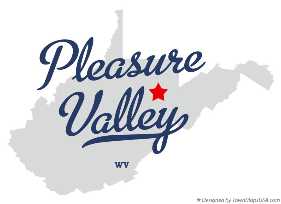 Map of Pleasure Valley West Virginia WV