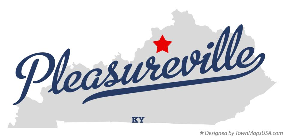 Map of Pleasureville Kentucky KY