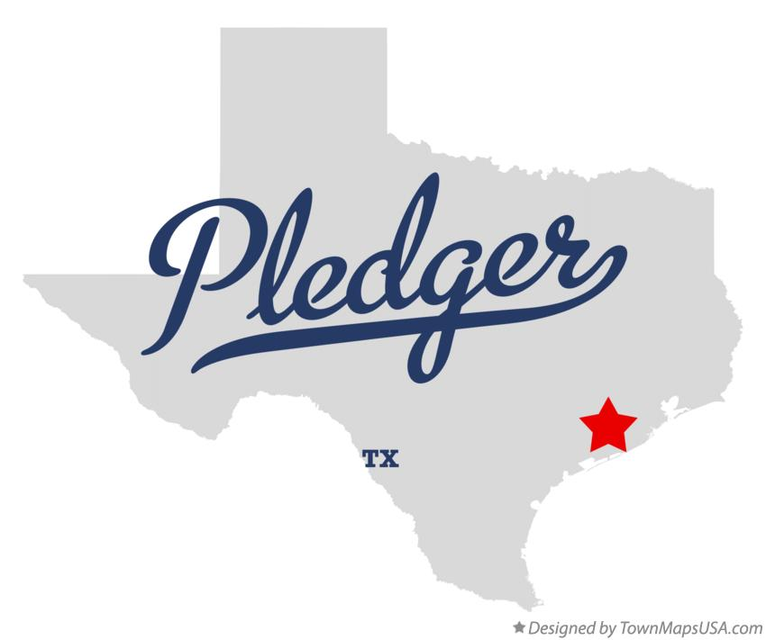 Map of Pledger Texas TX