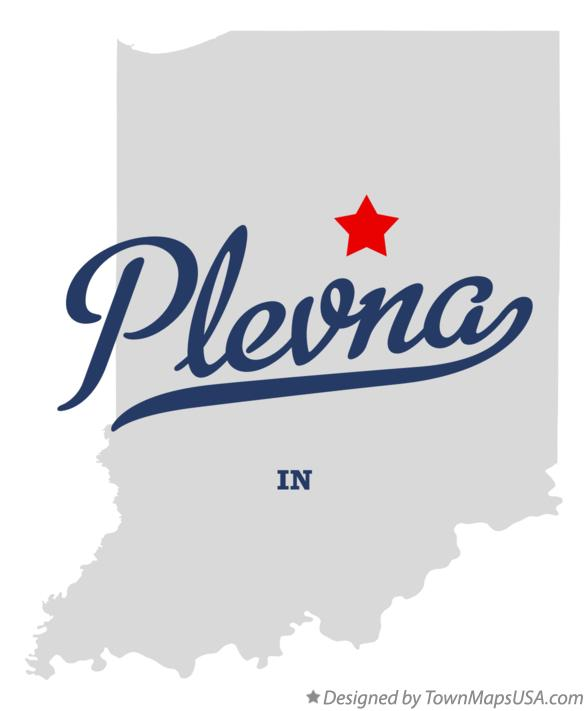 Map of Plevna Indiana IN