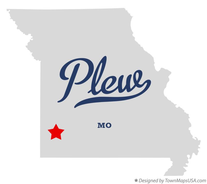 Map of Plew Missouri MO