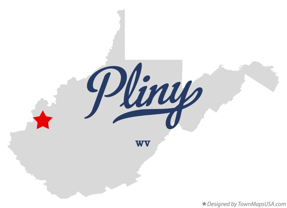 Map of Pliny West Virginia WV