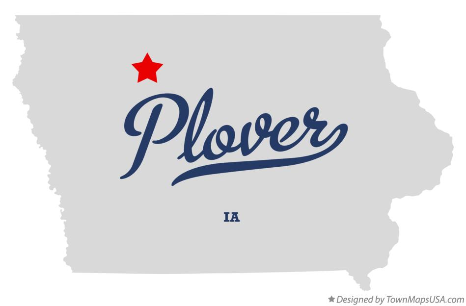 Map of Plover Iowa IA