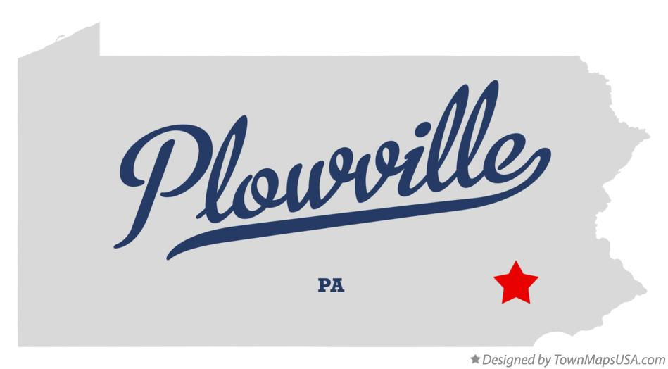 Map of Plowville Pennsylvania PA