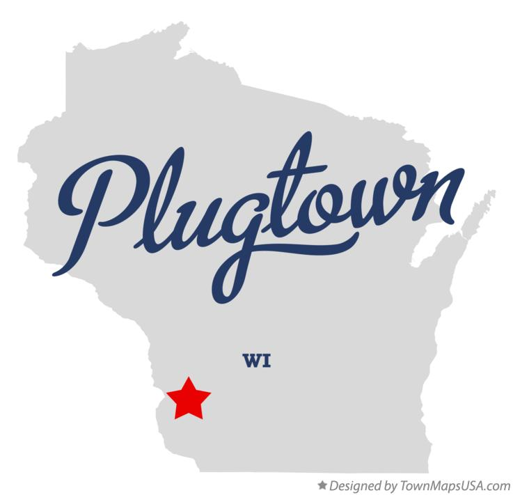 Map of Plugtown Wisconsin WI