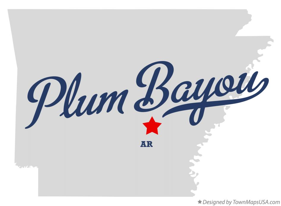Map of Plum Bayou Arkansas AR