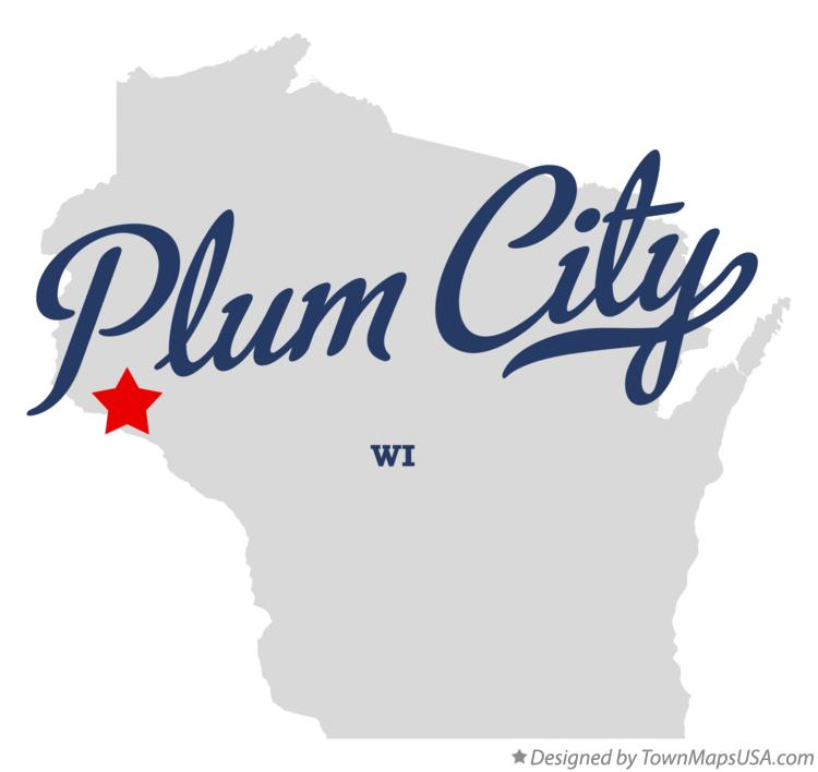 Map of Plum City Wisconsin WI