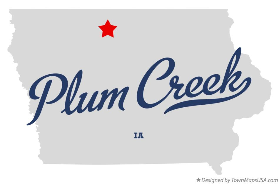 Map of Plum Creek Iowa IA
