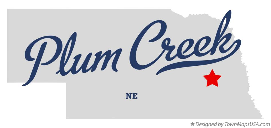 Map of Plum Creek Nebraska NE