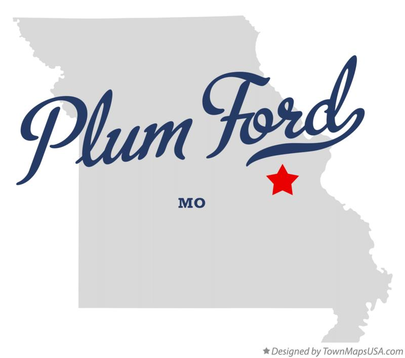 Map of Plum Ford Missouri MO
