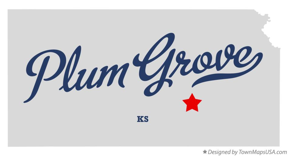 Map of Plum Grove Kansas KS