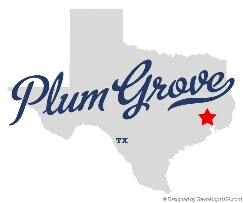 Map of Plum Grove Texas TX