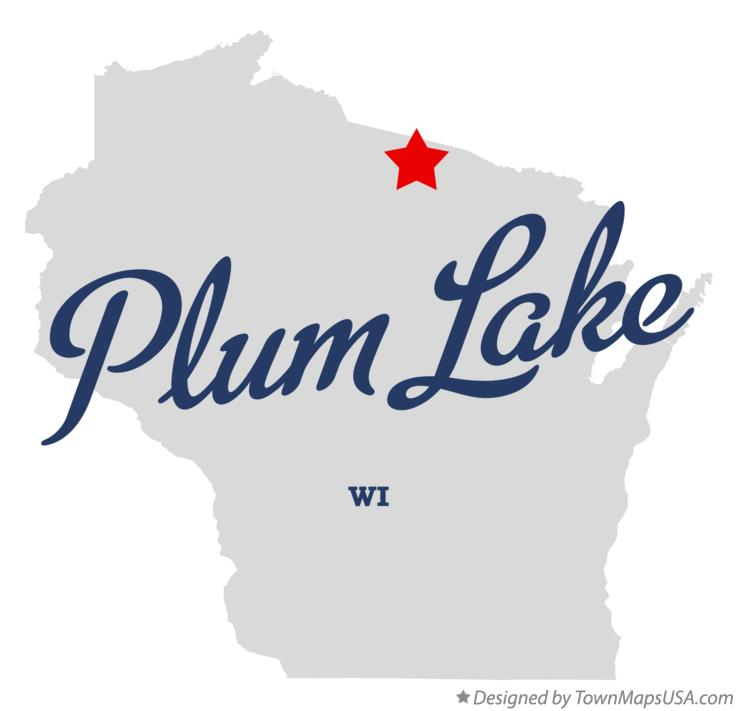 Map of Plum Lake Wisconsin WI