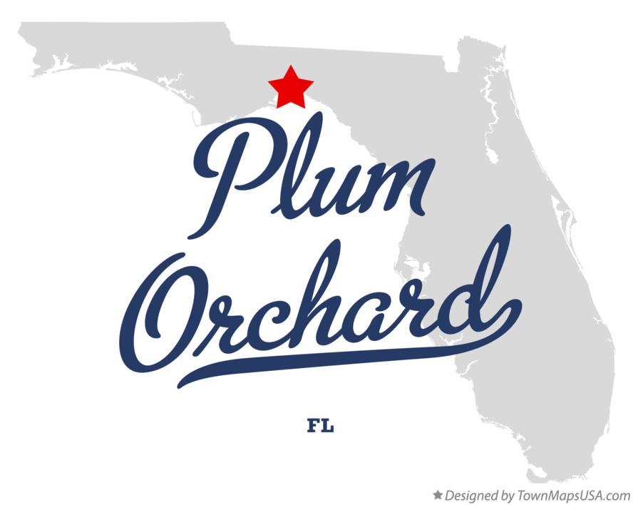 Map of Plum Orchard Florida FL