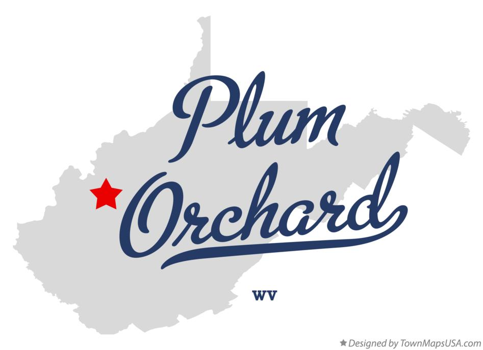 Map of Plum Orchard West Virginia WV