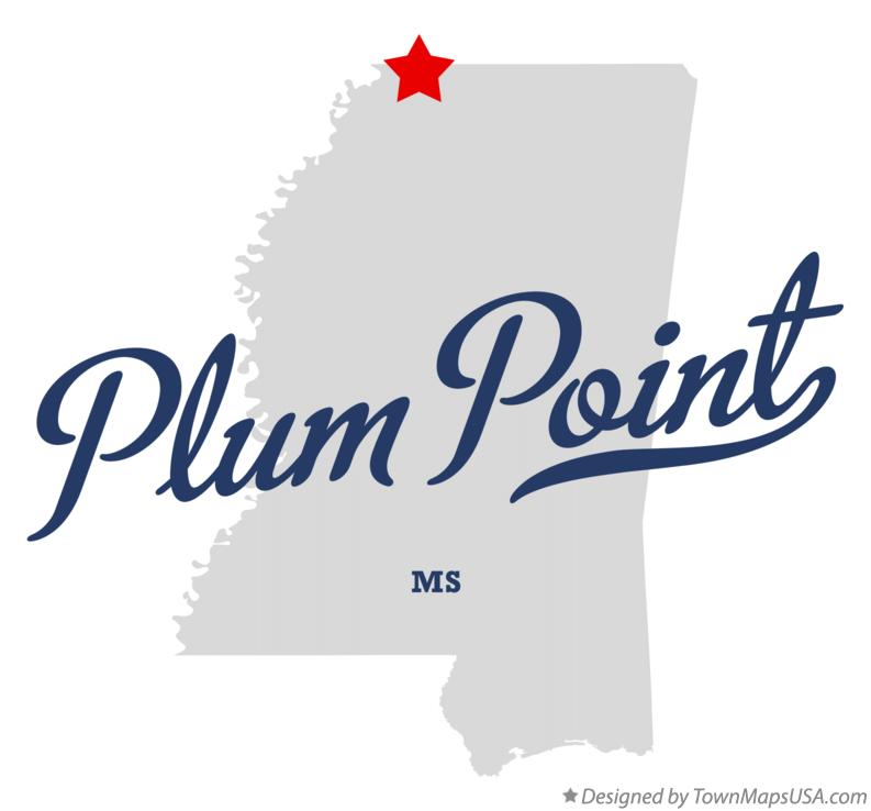 Map of Plum Point Mississippi MS