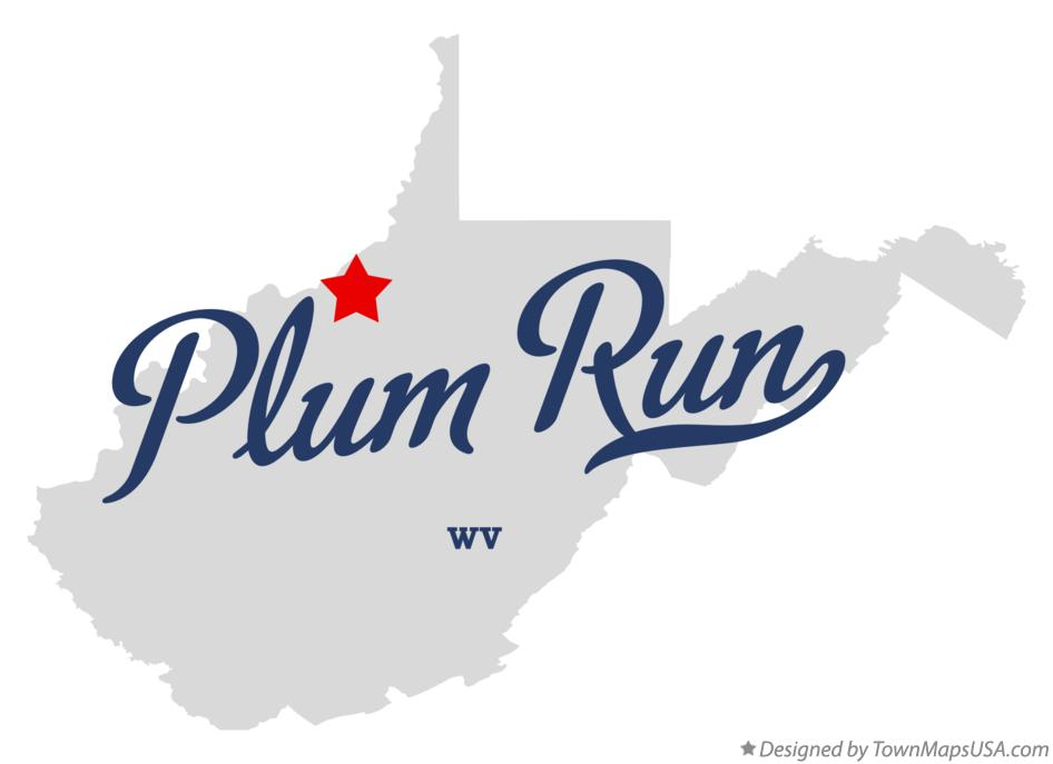 Map of Plum Run West Virginia WV