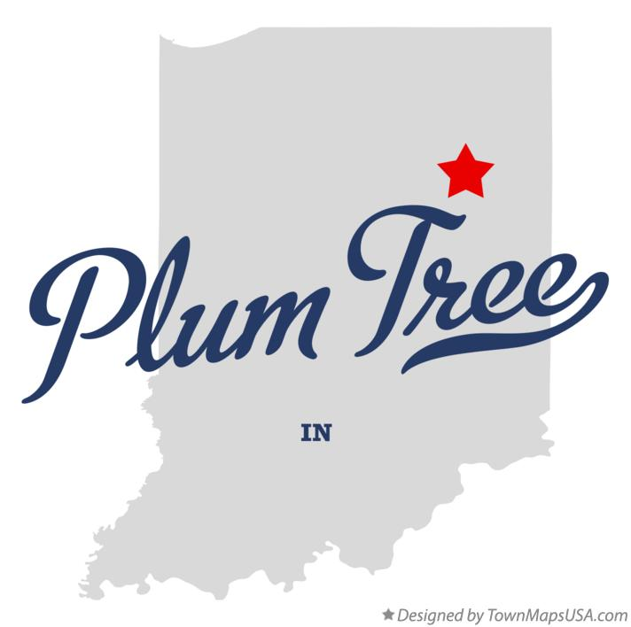 Map of Plum Tree Indiana IN