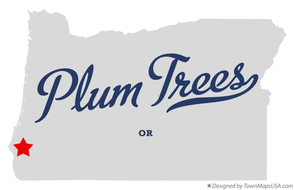 Map of Plum Trees Oregon OR