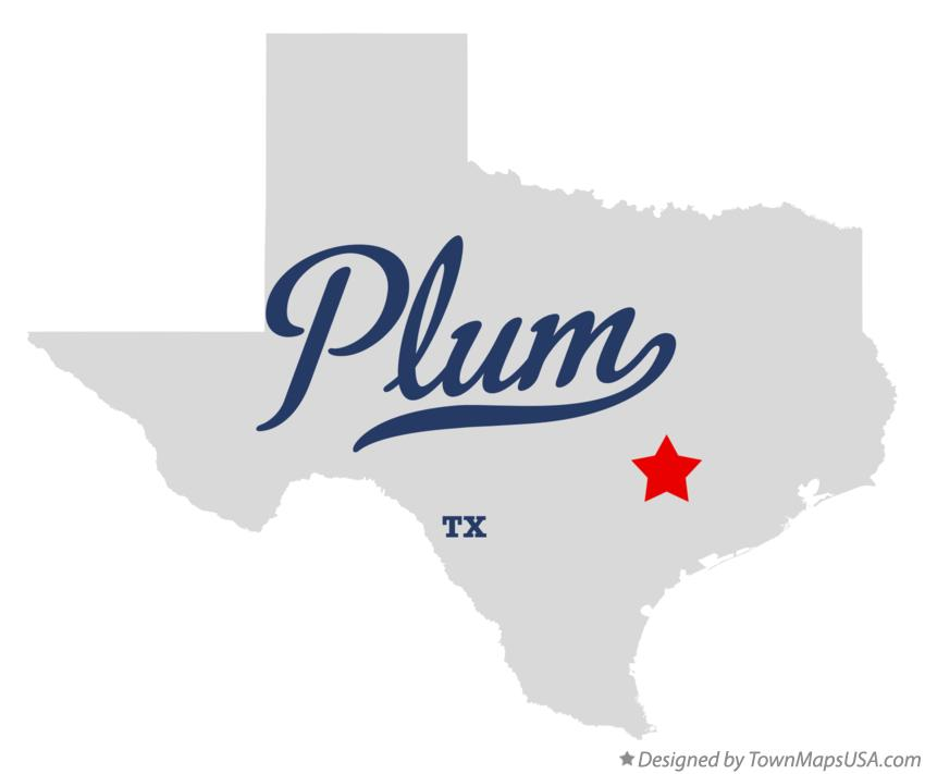 Map of Plum Texas TX