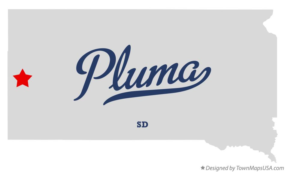 Map of Pluma South Dakota SD