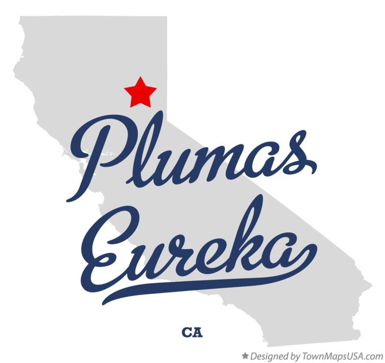 Map of Plumas Eureka California CA