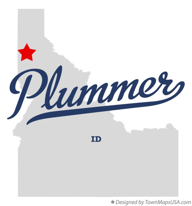 Plummer Idaho Map.Map Of Plummer Id Idaho