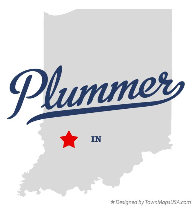 Map of Plummer Indiana IN