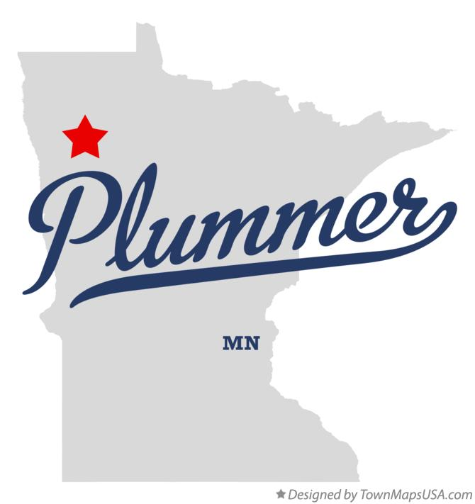 Map of Plummer Minnesota MN