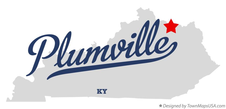 Map of Plumville Kentucky KY