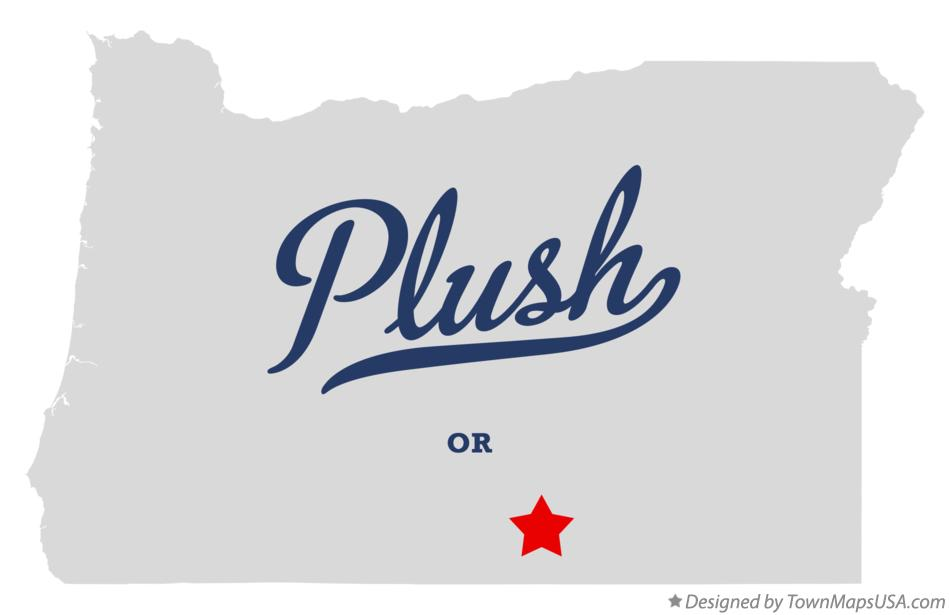 Map of Plush Oregon OR