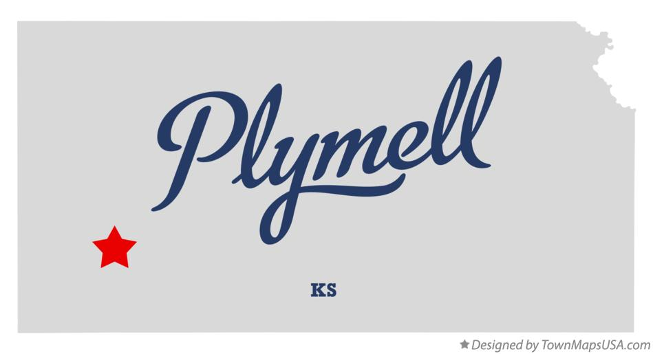 Map of Plymell Kansas KS