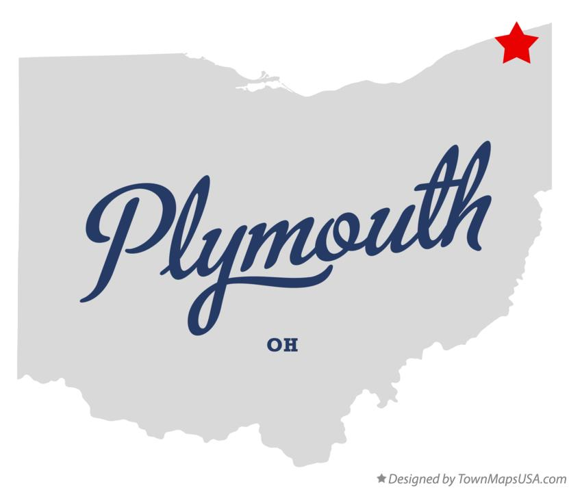 Map of Plymouth Ohio OH