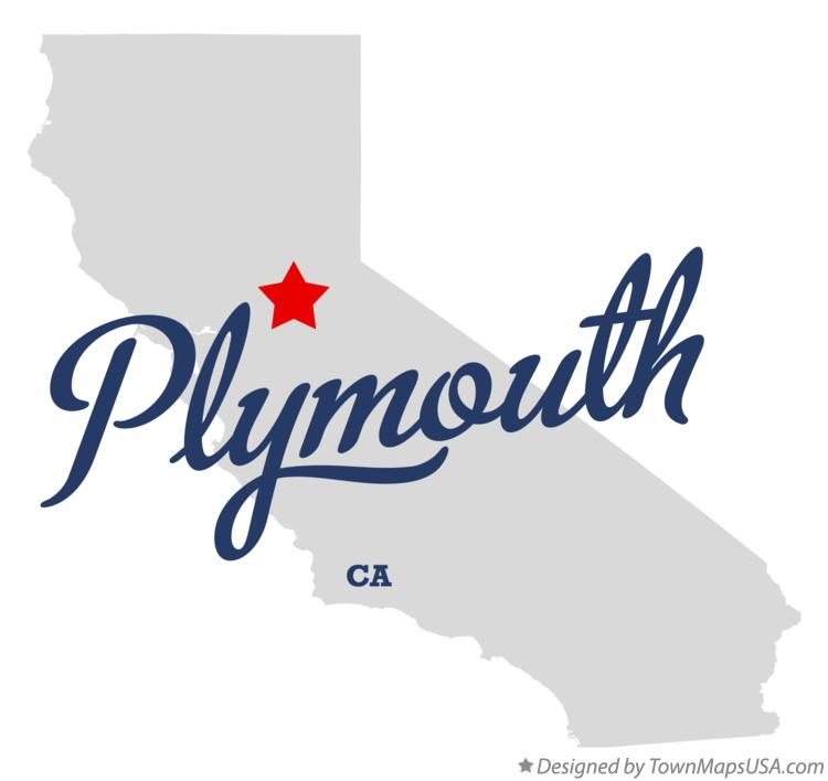 Map of Plymouth California CA