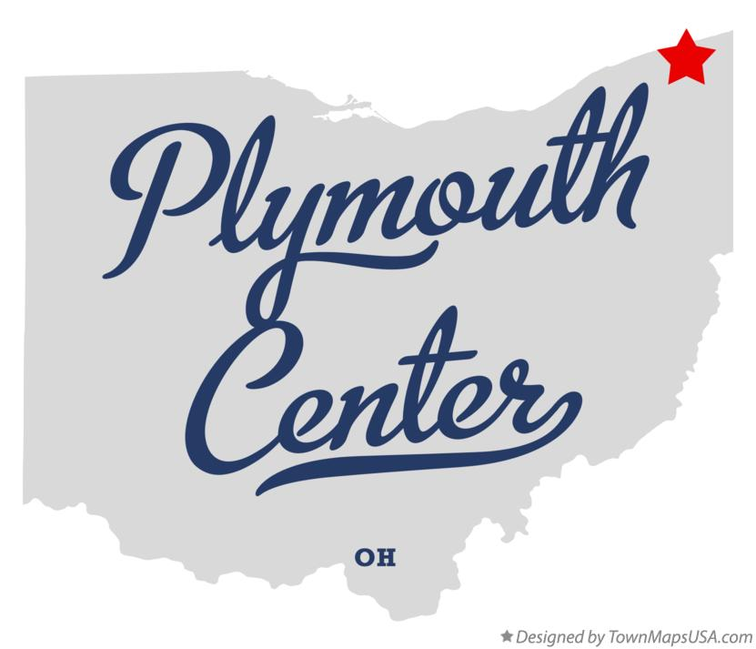 Map of Plymouth Center Ohio OH