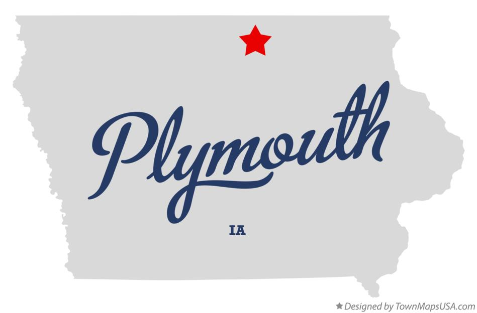 Map of Plymouth Iowa IA