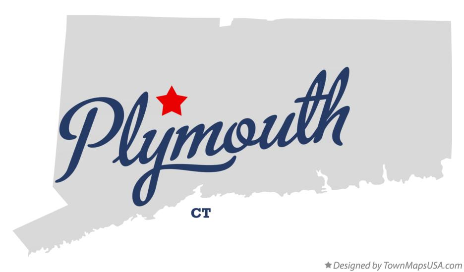 Map of Plymouth Connecticut CT