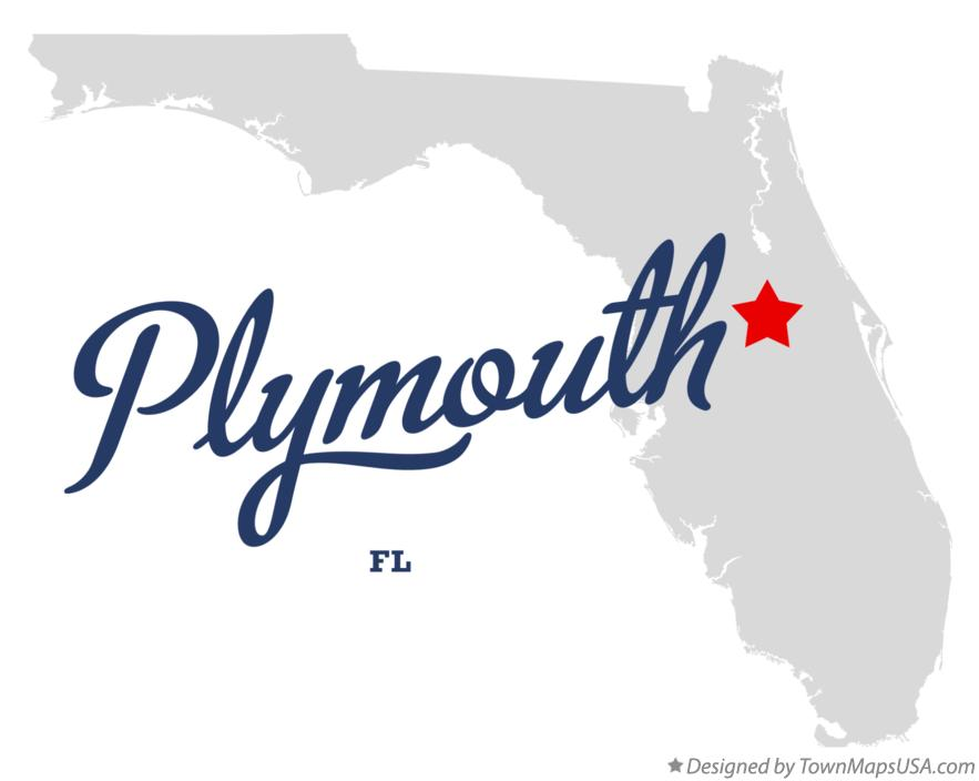 Map of Plymouth Florida FL