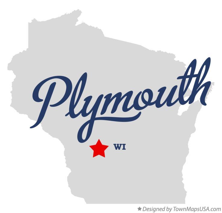 Map of Plymouth Wisconsin WI