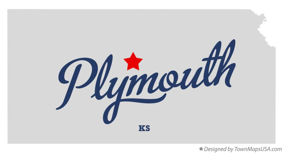 Map of Plymouth Kansas KS