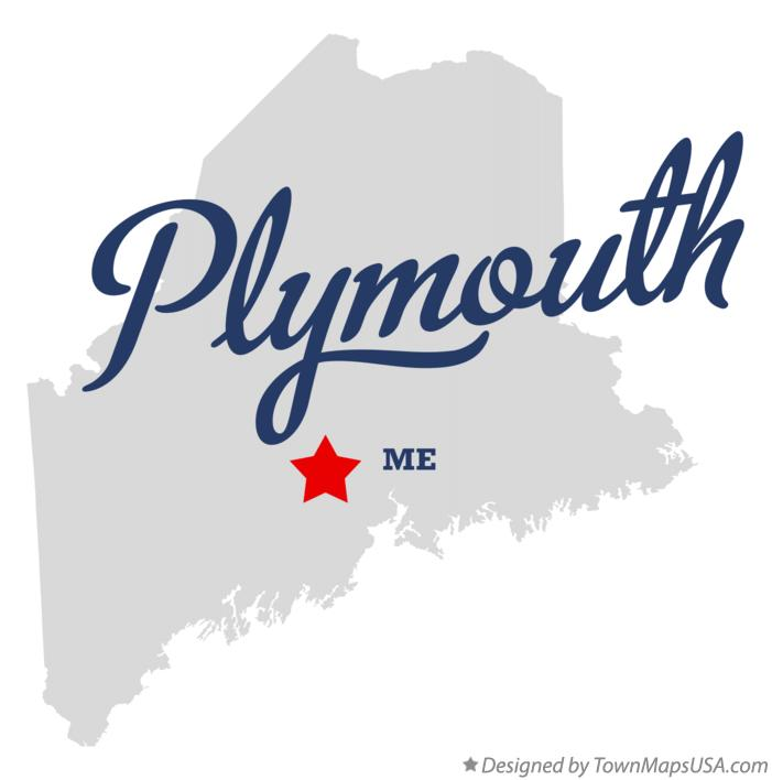 Map of Plymouth Maine ME