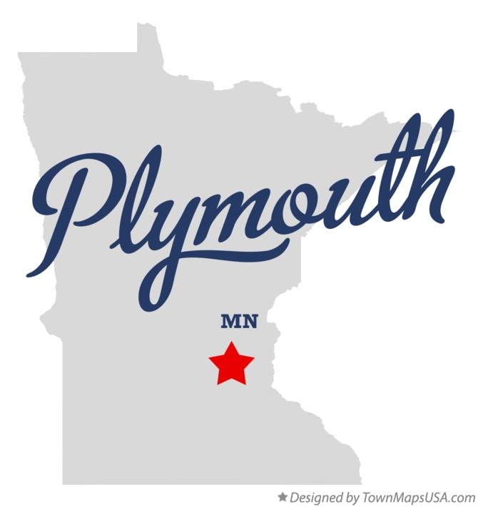 Map of Plymouth Minnesota MN