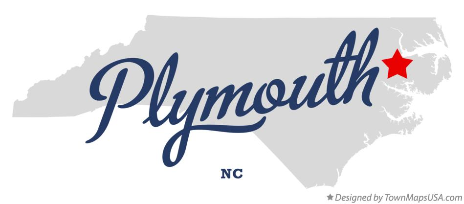 Map of Plymouth North Carolina NC