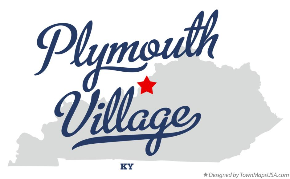 Map of Plymouth Village Kentucky KY